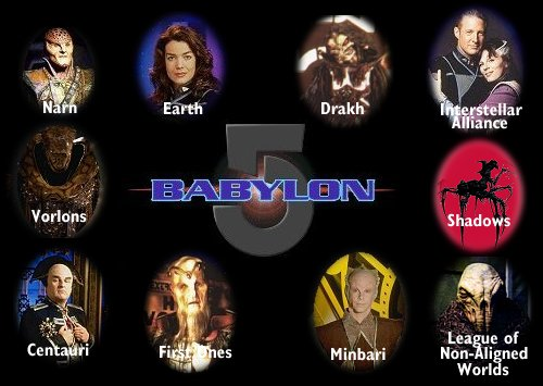 Major Races in the Babylon 5 Universe